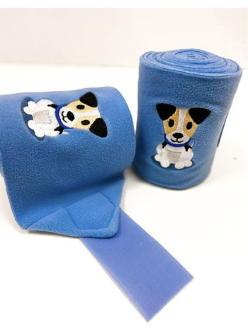 Lettia Lettia Puppy Embroidered Polo Wraps
