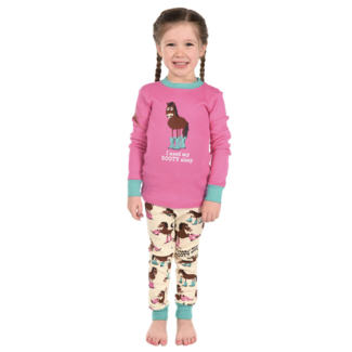 Lazy One Lazy One Kids No Booty Sleep PJ Set
