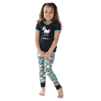 Lazy One Lazy One Kids Unicorn PJ Set