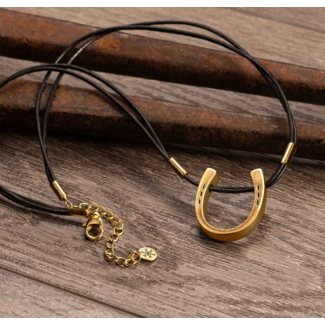 Urban Equestrian Urban Equestrian Lucky Show Leather Slider Necklace