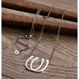 Urban Equestrian Urban Equestrian Double Luck Necklace
