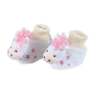 Jack's Manufacturing Jack's Pink Horsey Baby Slippers