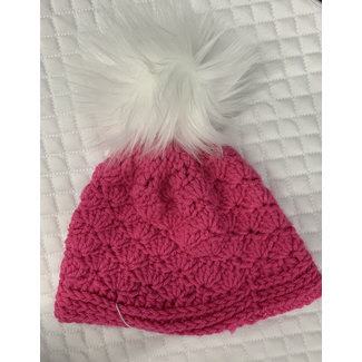 Belle & Bow Belle & Bow Knit Hats with Pom