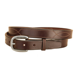 "Tory Leather Tory 1"" Stitched Pattern Belt"