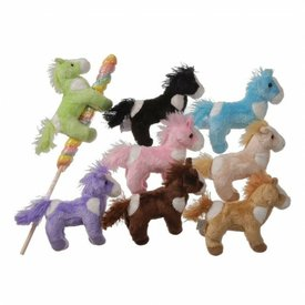 JT INTERNATIONAL Plush Horse On Pop - Assorted Colors