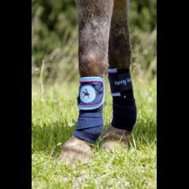HKM HKM Polar Fleece Bandages Funny Horses