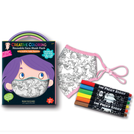 The Piggy Story The Piggy Story Unicorn Fantacy Coloring Face Mask w/ Markers