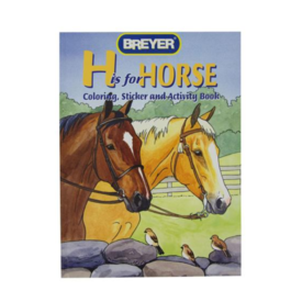 Breyer Breyer Craft H is For Horse Coloring Book with Stickers