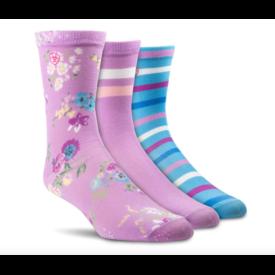 Ariat Ariat Ladies Crew Sock 3 pk