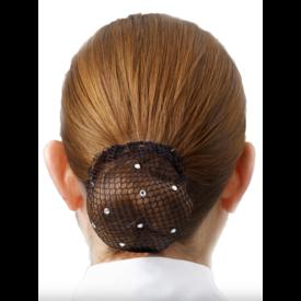 SHOWQUEST Showquest Bun Nets Swarovski Crystals One Size
