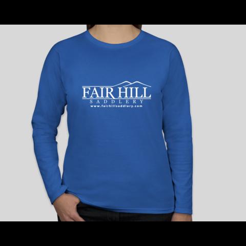 Fair Hill Saddlery Ladies 100% Cotton Long Sleeve T-Shirt