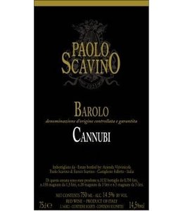 "Nebbiolo Barolo ""Cannubi"" E Pira Chaiara Boschis, IT, 2012"