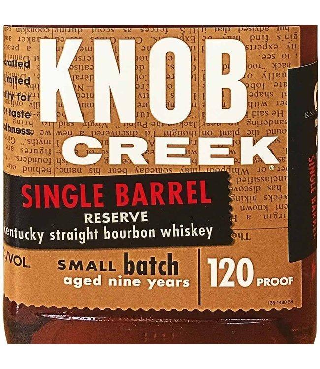 "Bourbon Bourbon ""Single Barrel Reserve Aged 9 Yrs"", Knob Creek, 750ml"