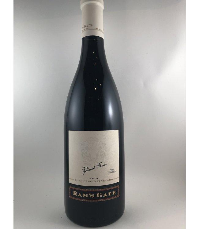 "Pinot Noir Pinot Noir, ""Bush Crispo Vineyard"" Ram's Gate, Russian River Valley, CA, 2016"