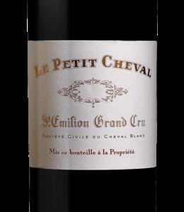 """Bordeaux Blend Château Cheval Blanc """"Le Petit Cheval"""", Saint-Emilion,  FR, 2020 (Futures) 6-pack 6x750 ml"""