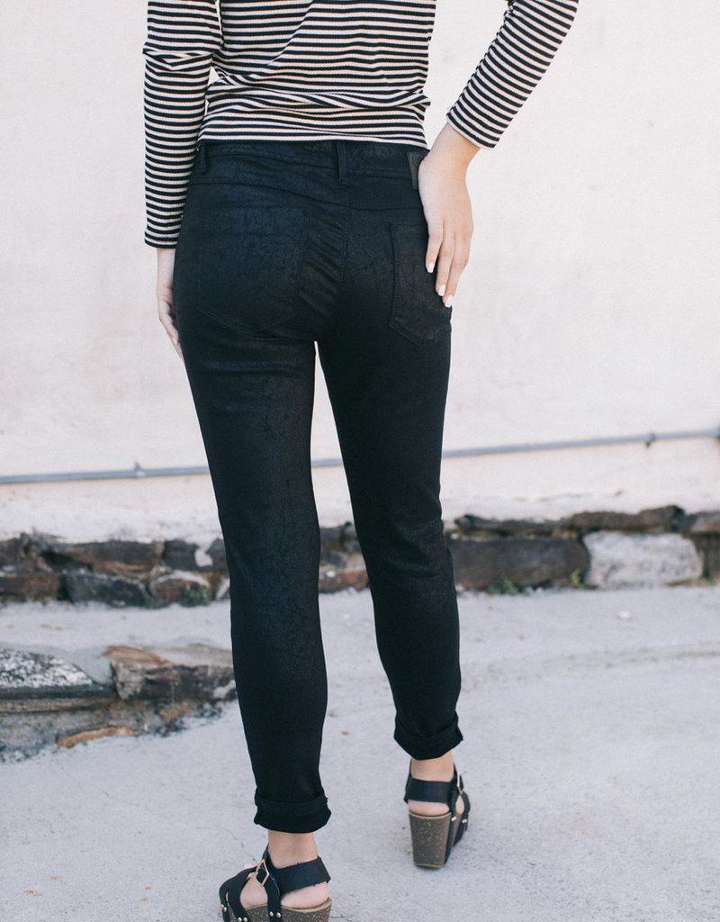 Black Shiny Skinny Jean