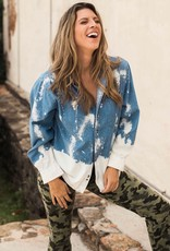 Distressed Denim Button Up