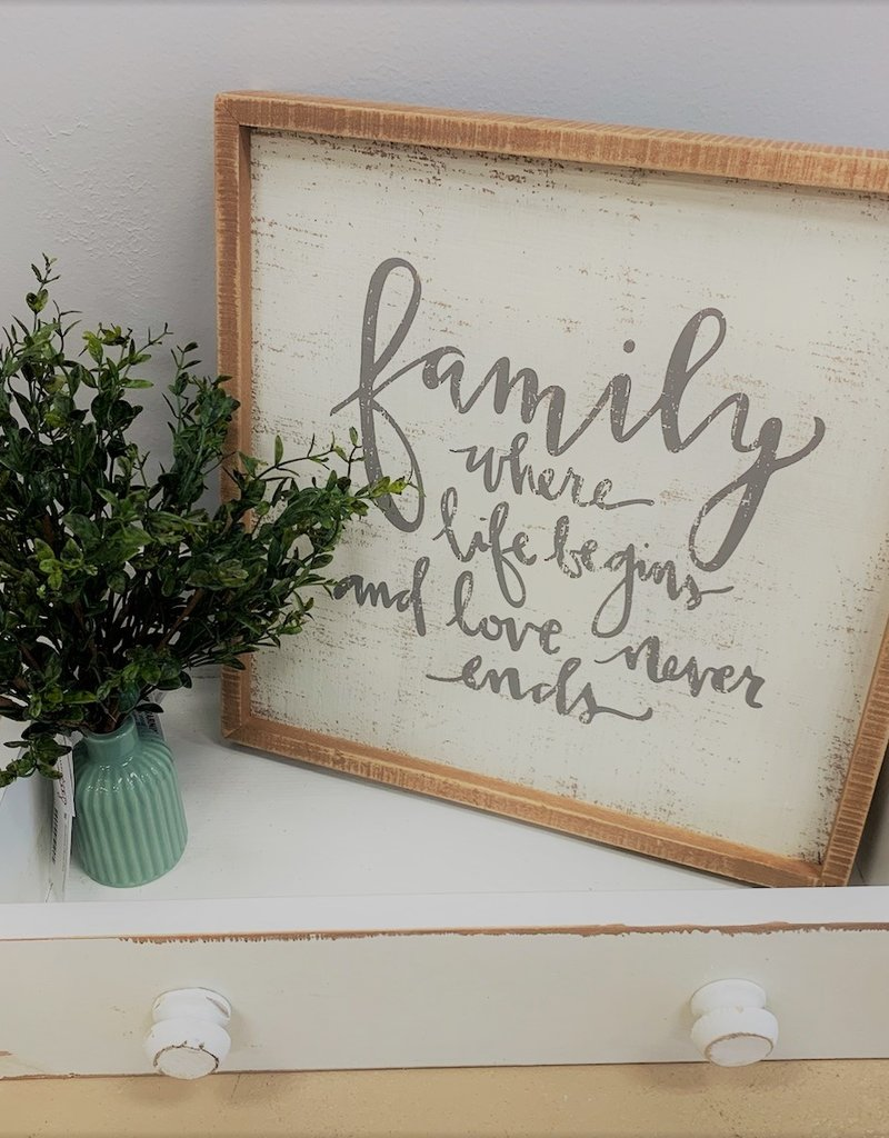 Family Box Sign