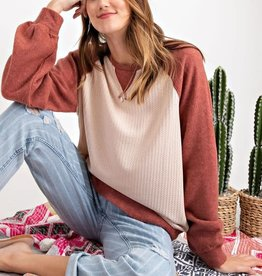 Thermal Brushed Pullover Top