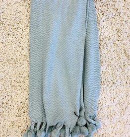 Cotton Throw Aqua