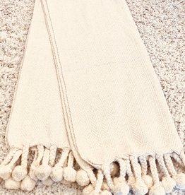 Cotton Throw Ivory