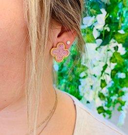 Stella Pink Glitter Stud