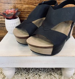 Black Sling Wedge