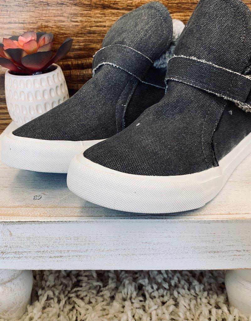 Blowfish Mint Canvas Fur Sneakers