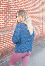 Navy Confetti Sweater