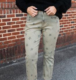 Star Print Chino Pants