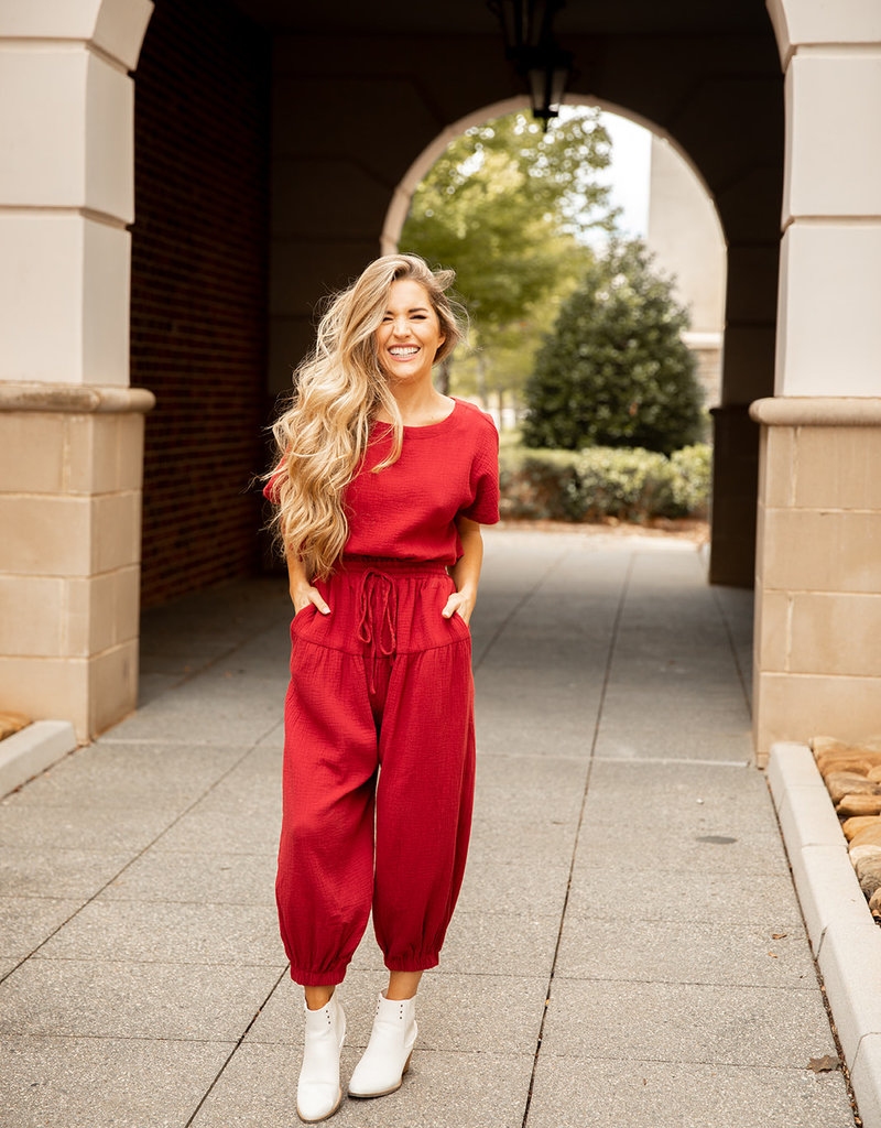 Relaxed Open Back Jumpsuit