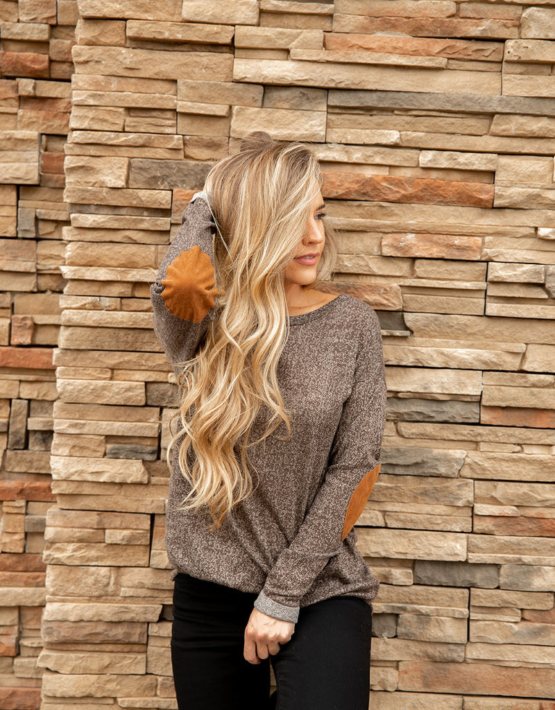 Elbow Patch Tunic Top