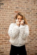& Merci Fuzzy Faux Fur Jacket