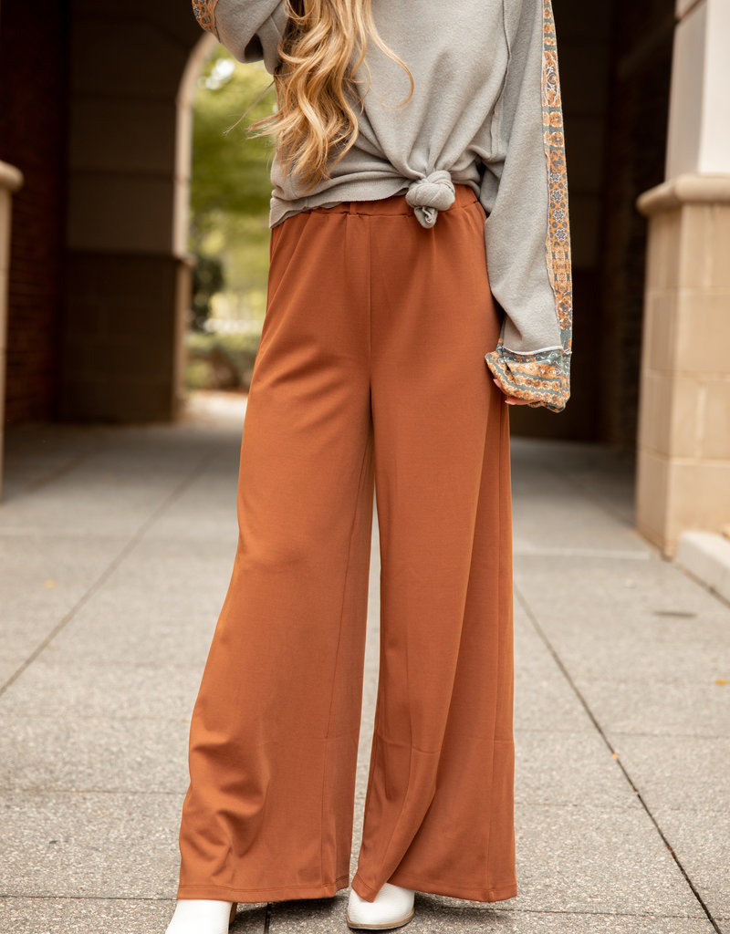 High Waist Flare Knit Pants