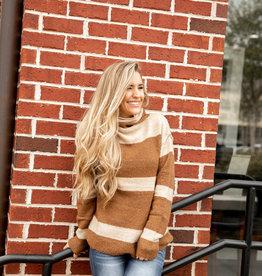 Turtle Neck Stripe Sweater