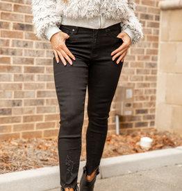 Kancan Black Ankle Skinny Jeans