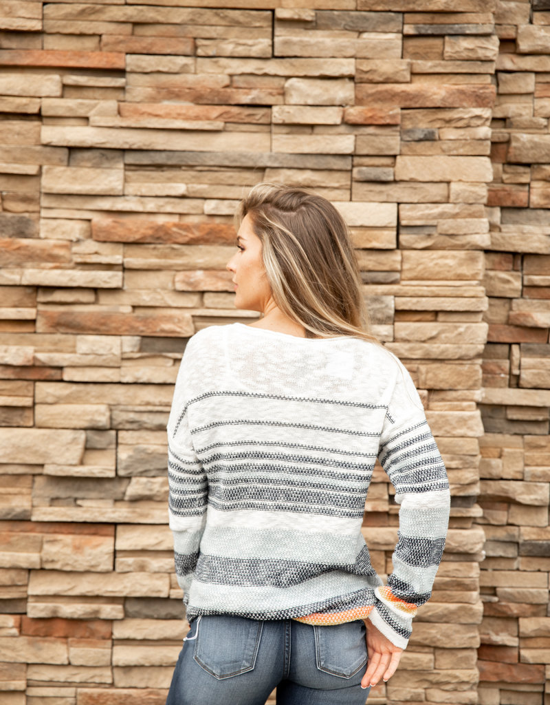 Multi Striped Sweater Top