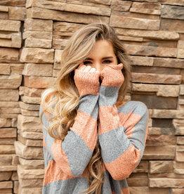 Crisscross Back Stripe Sweater