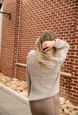 Lace Up Shoulder Sweater