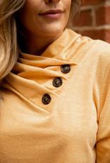 Button Neck Detail Top