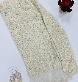 Lace Ruffle Sweater