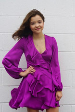 Purple Ruffle dress