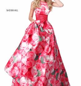 Sherri Hill Sherri Hill Pink Print 0