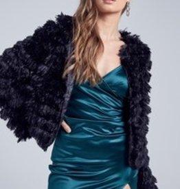 (IVORY)Blue Blush Furry Jacket IBT6527-1