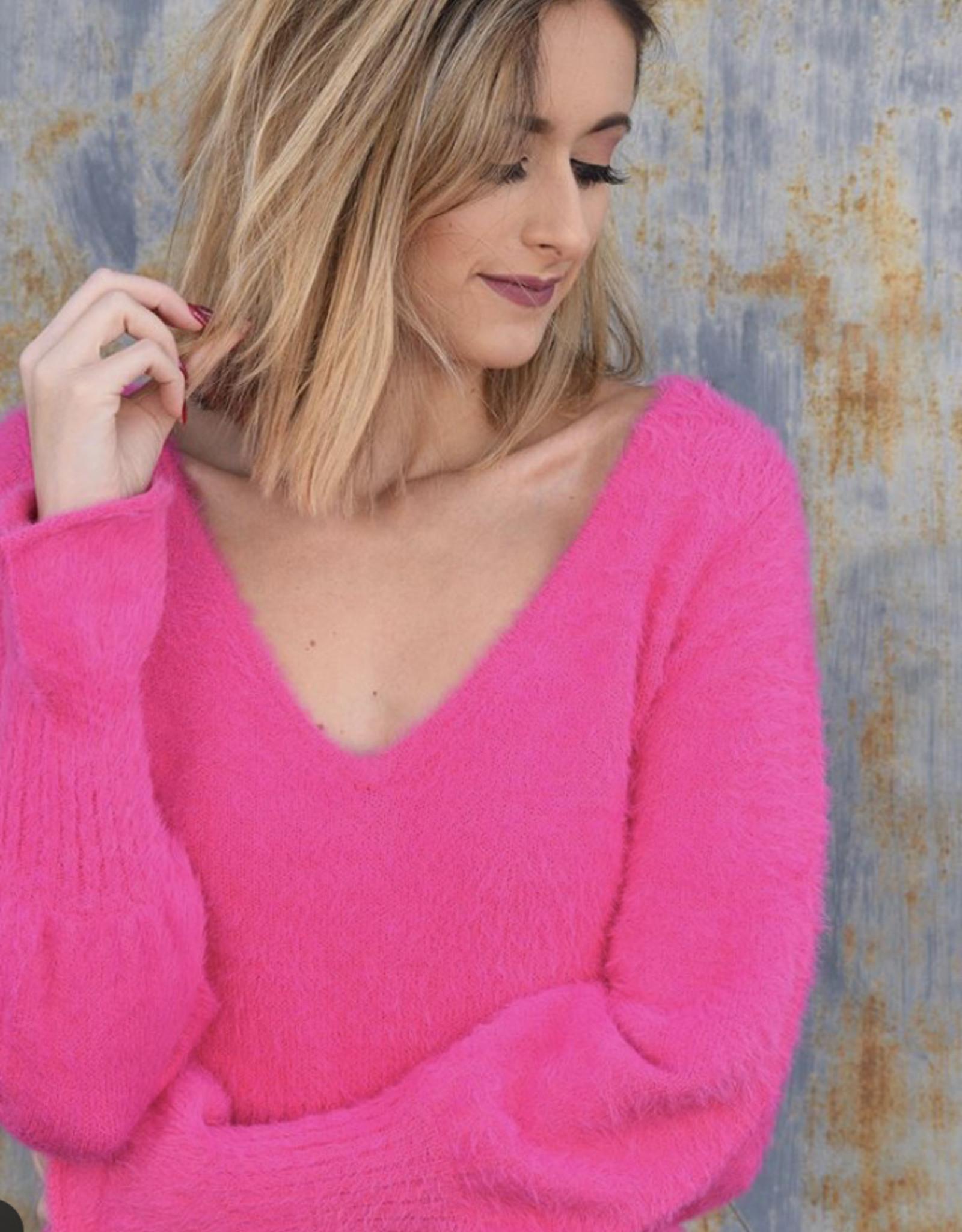 DO + BE Ruffled Him, Flared Sleeve Sweater Y17376