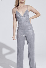 Silver Strappy Jumpsuit