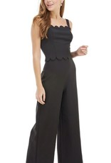 Scalloped Jumpsuit Black