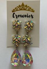 AB  Crystal Earrings