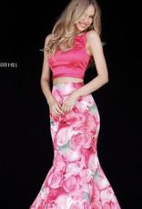 Sherri Hill sherri hill pink floral print 6