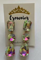 Large  AB Stacked Earrings